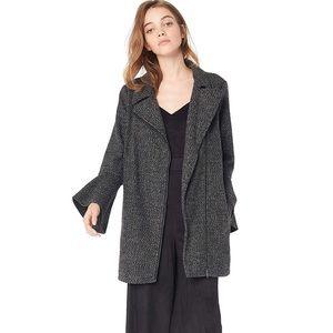 Nordstrom Tweed Coat Jacket Gray Black JACK NWT